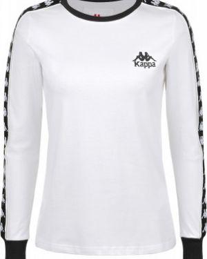 Хлопковая белая футбольная прямая спортивная футболка Kappa