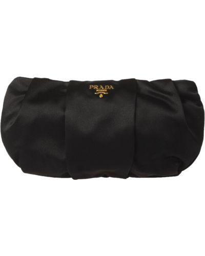 Клатч на молнии черный Prada