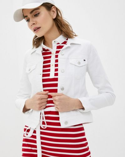Белая джинсовая куртка Tommy Hilfiger