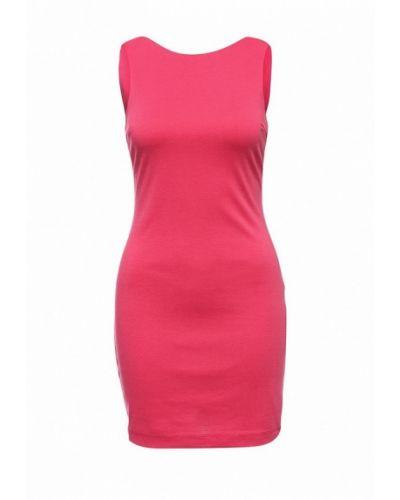 Платье мини розовое Oodji