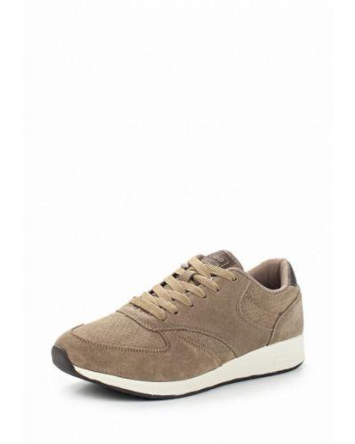 Бежевые велюровые кроссовки Strobbs