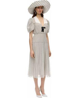 Biała sukienka mini z szyfonu Marianna Senchina