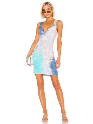 Платье с подкладкой - синее Michael Lauren