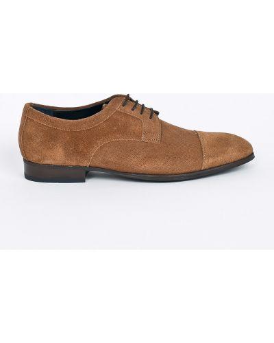 Кожаные туфли на шнуровке замшевые Joop!