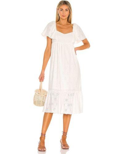 Белое платье миди винтажное с подкладкой Line & Dot