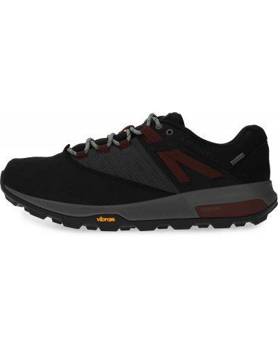 Черные кожаные полуботинки на шнуровке Merrell