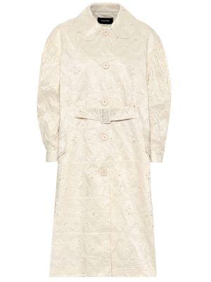 Biały ażurowy płaszcz vintage Simone Rocha