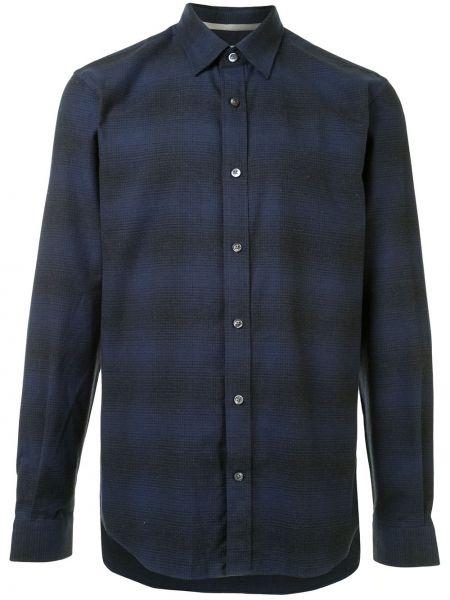 Czarna koszula bawełniana z długimi rękawami Gieves & Hawkes