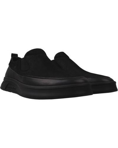 Туфли из нубука - черные Anemone