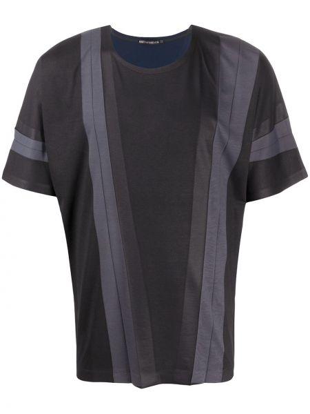 Koszula krótkie z krótkim rękawem z paskami w paski Issey Miyake
