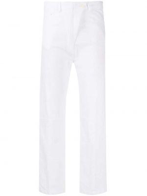 Белые джинсы с высокой посадкой на молнии Ann Demeulemeester