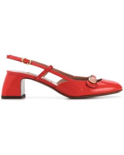 Красные туфли-лодочки круглые на каблуке L'autre Chose