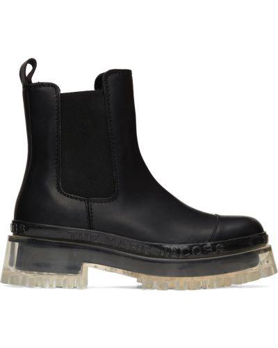 Черные кожаные ботинки Marc Jacobs