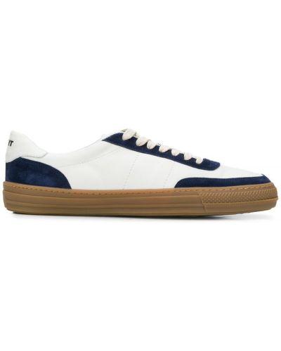Кожаные кроссовки замшевые белый Rov