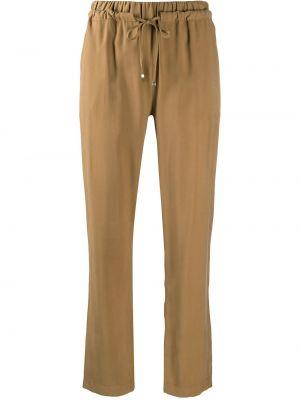 Прямые коричневые брюки с карманами D.exterior