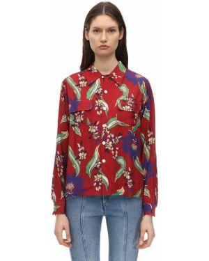 Рубашка с карманами - красная Re/done
