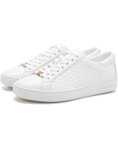 Кеды белые кожаные Michael Michael Kors