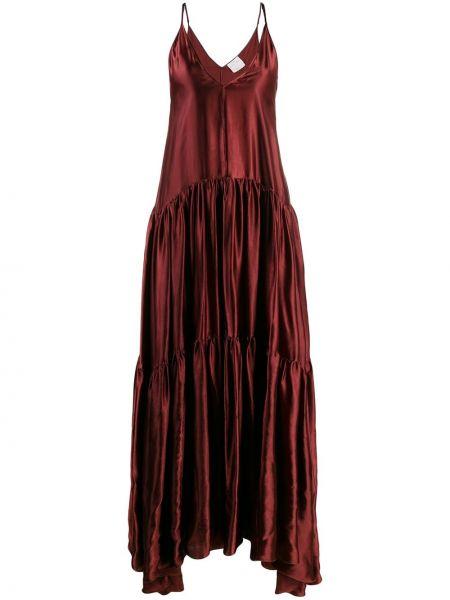 Платье с открытой спиной на бретелях Forte Forte