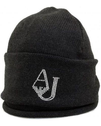 Шапка черная Armani Jeans