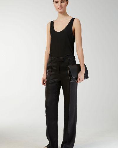 Шелковые брюки - черные Arket