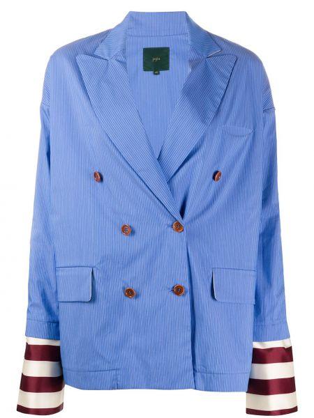 Синий классический пиджак с карманами Jejia
