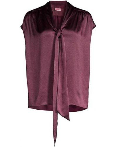 Плиссированная блузка с короткими рукавами с V-образным вырезом Kate Spade New York