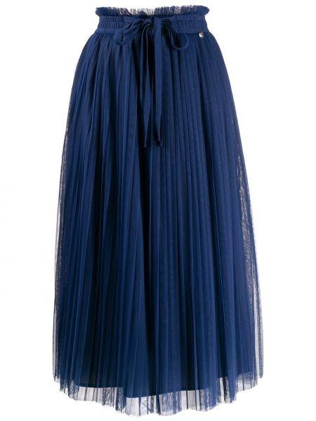 Плиссированная юбка синяя Twin-set