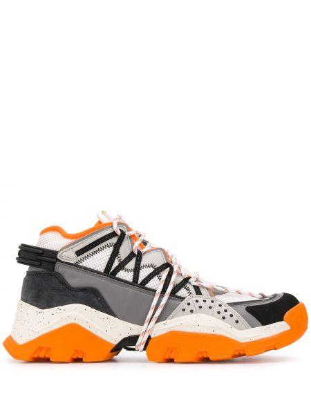 Кожаные кроссовки походные на шнуровке Kenzo