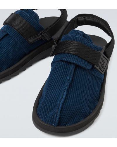 Синие текстильные с ремешком сандалии Reebok