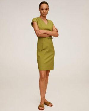 Платье мини облегающее с V-образным вырезом Mango