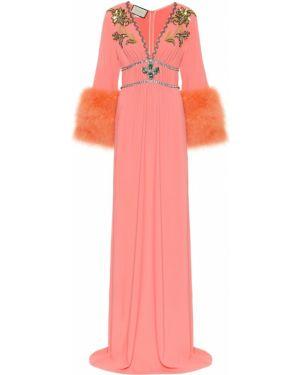 Платье розовое лососевый Gucci