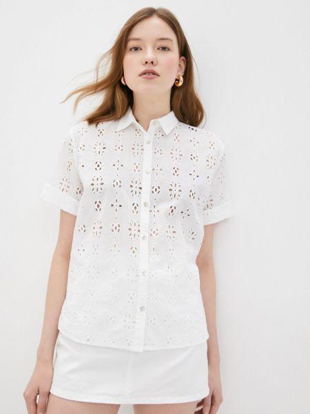 Джинсовая рубашка белая с коротким рукавом Pepe Jeans