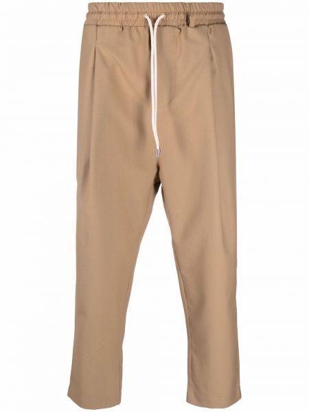 Brązowe spodnie wełniane Drole De Monsieur