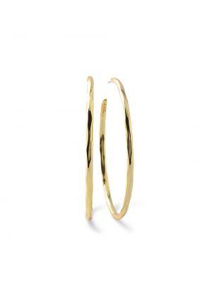 Облегченные золотистые серьги-кольца золотые Ippolita