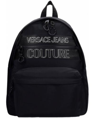 Czarny plecak materiałowy Versace Jeans Couture