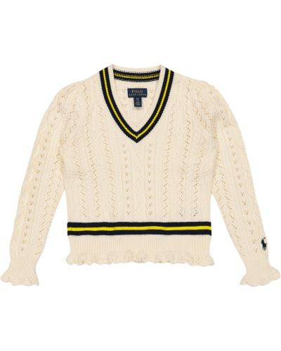 Beżowy sweter bawełniany Polo Ralph Lauren Kids