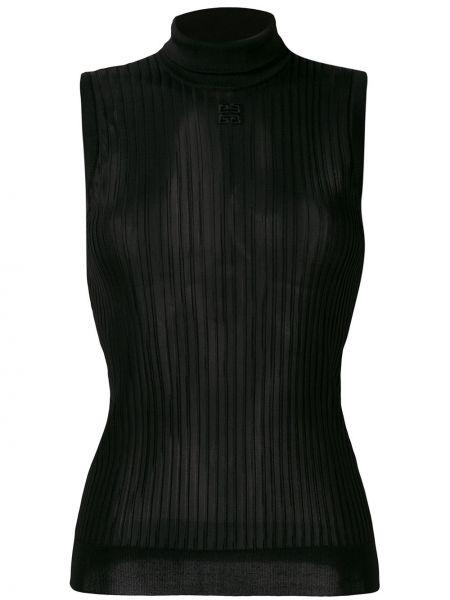 Bluzka bez rękawów z haftem francuski Givenchy