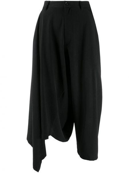 Укороченные брюки черные Yohji Yamamoto