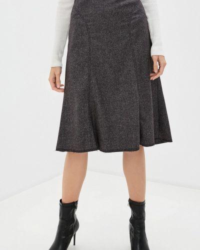 Коричневая юбка свободного кроя Trussardi Collection