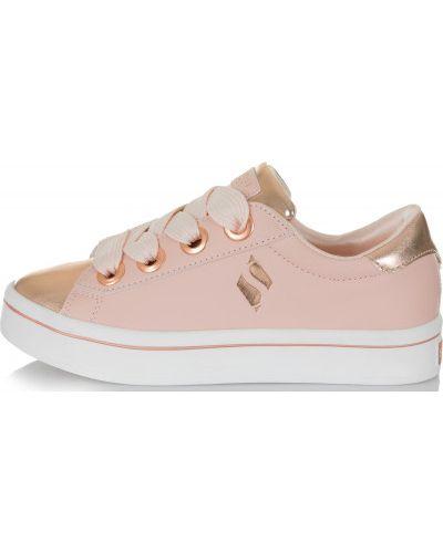 Кеды на шнуровке розовый Skechers