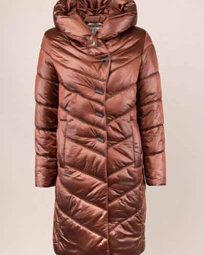 Пуховик-пальто - коричневый Electrastyle