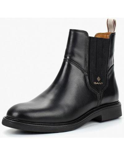 Кожаные ботинки осенние на каблуке Gant