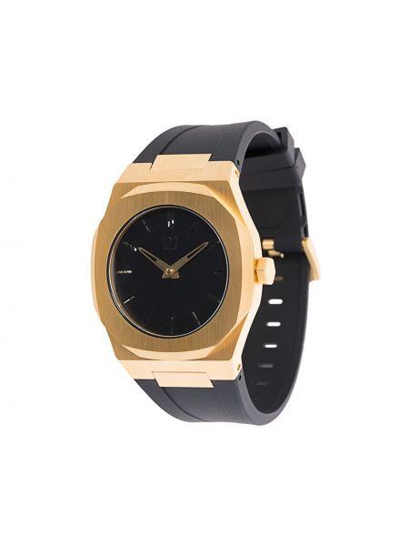 Czarny złoty zegarek mechaniczny D1 Milano