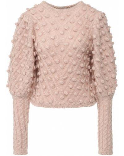Вязаный свитер шерстяной из мохера Zimmermann