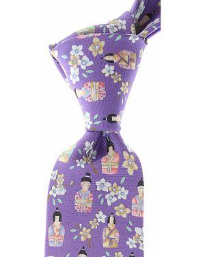 Fioletowy krawat z jedwabiu Leonard