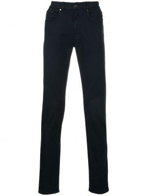 Czarne jeansy bawełniane perły Kent & Curwen