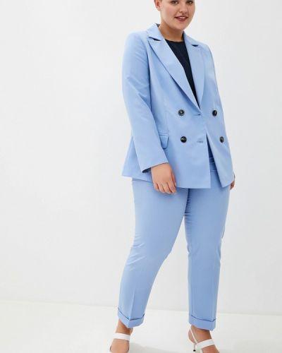 Блузка с длинным рукавом синяя Bruebeck