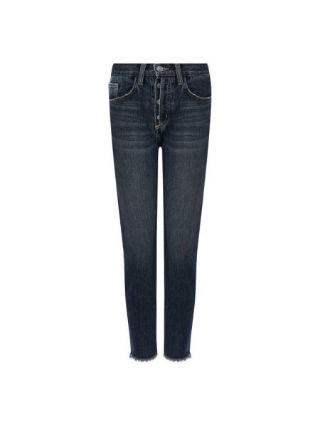 Укороченные зауженные джинсы - синие Current/elliott