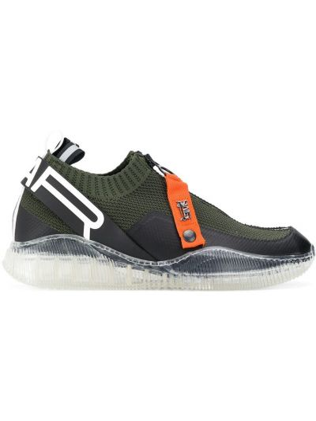 Zielone sneakersy skorzane Swear