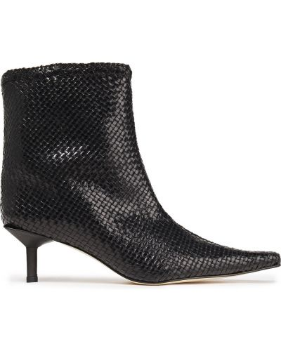 Czarne ankle boots skorzane w szpic Miista